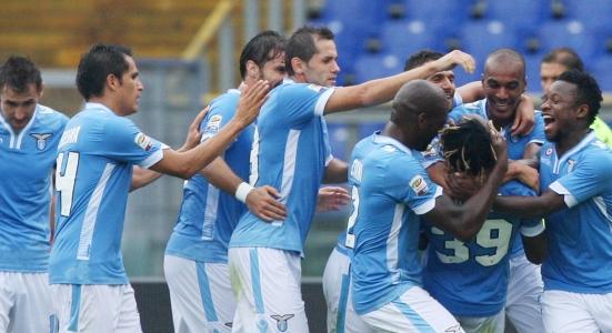 Игроки Лацио празднуют победу, фото Getty Images