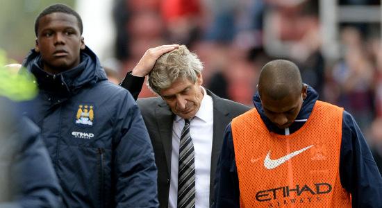 Мануэлю Пеллегрини приходится нелегко. Фото Sky Sports