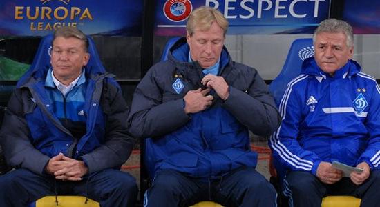 Олег Блохин, Алексей Михайличенко и Андрей Баль. Фото Ильи Хохлова, Football.ua