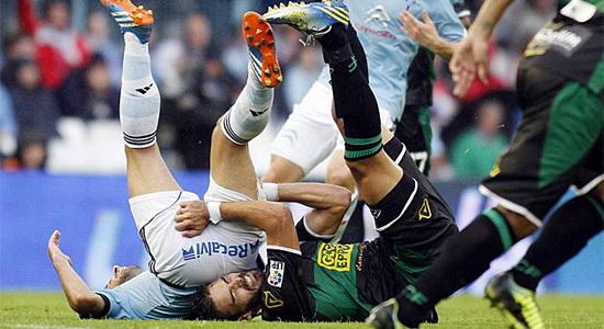 перипетии матча в Виго, фото marca.com