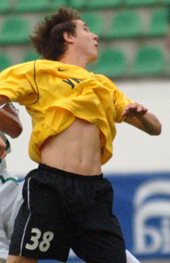 Денис Олейник - автор первого гола