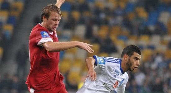 Руслан Фомин в матче с Динамо, Football.ua