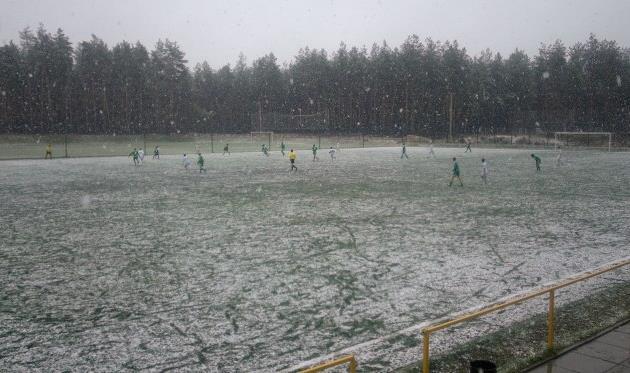 Снег едва не сорвал матч Карловка – Горняк, fcgornyak.dp.ua