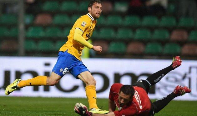 Маркизио забивает гол, Getty Images