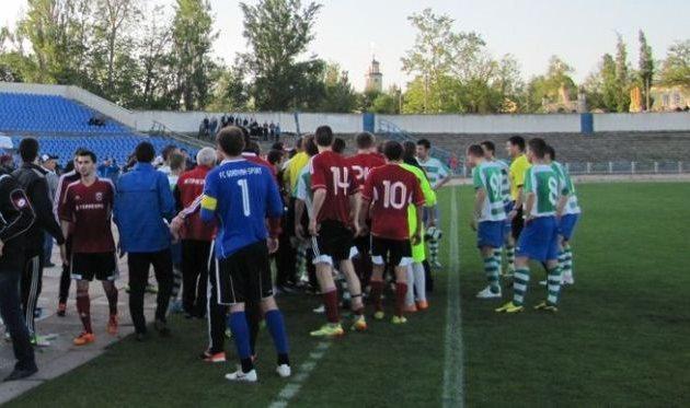 В херсонском матче эмоции фонтанировали, фото fckristal.at.ua