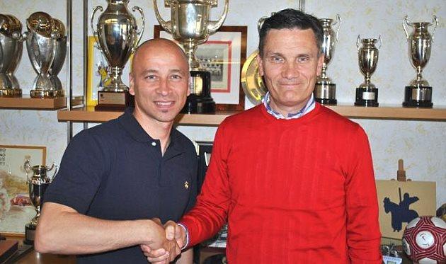 Эудженио Корини и спортивный директор Джованни Сартори, chievoverona.it