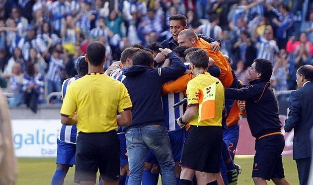 Депор празднует успех, фото marca.com