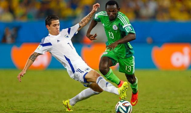 Бешич в борьбе с нигерийцами, фото getty images