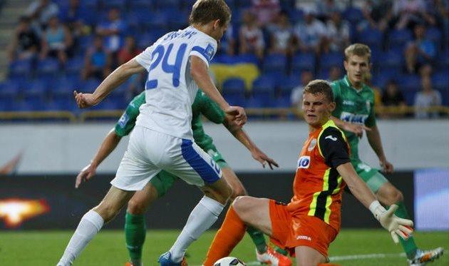 Лучкевич в атаке, фото ФК Днепр