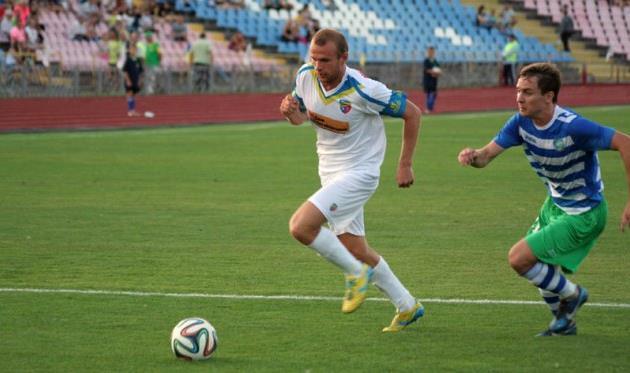 Ярослав Захаревич (слева), фото fcslavutich.ck.ua