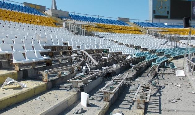 Стадион Авангард (26 июля, 2014 года), zarya-lugansk.com