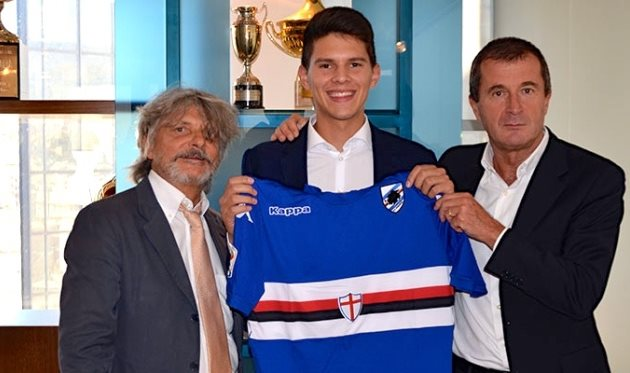 Карло Лулич (в центре), фото www.sampdoria.it