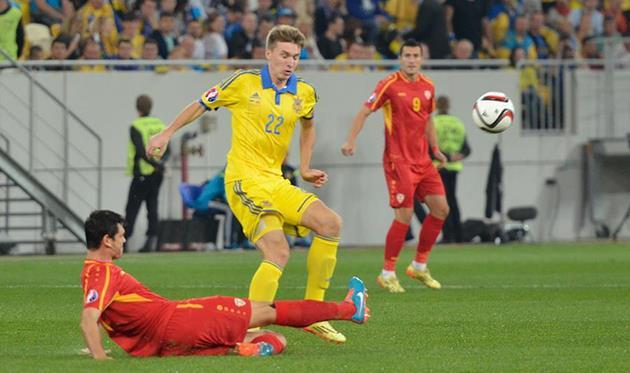 Сидорчук принес Украине победу над Македонией, фото - БОГДАН ЗАЯЦ, Football.ua