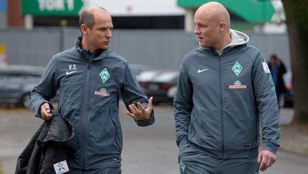 Виктор Скрипник и Рувен Шрёдер, werder.de