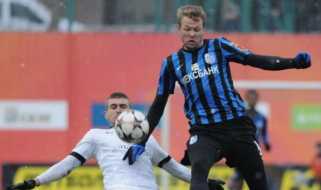 Руслан Фомин (справа), фото Ильи Хохлова, Football.ua