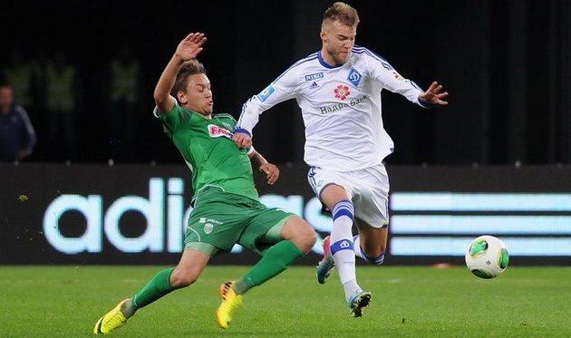Мартынюк против Ярмоленко, фото Ильи Хохлова, Football.ua