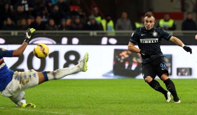 Шакири забил свой первый гол за Интер, фото corrieredellosport.it