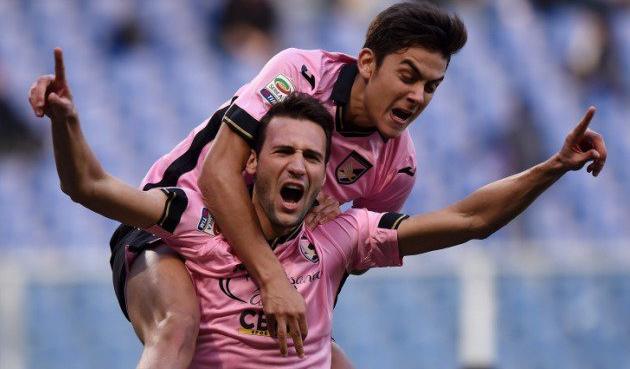 Васкес и Дибала - лучшие игроки матча, palermocalcio.it