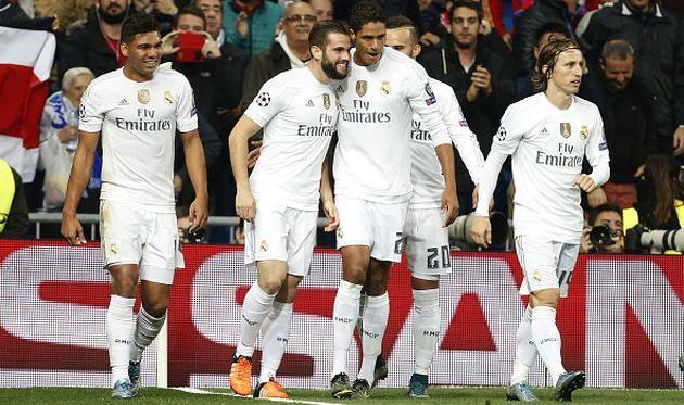 Игроки Реала празднуют забитый гол Getty Images