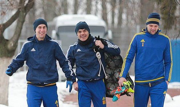 Футболисты Металлиста перед первой тренировкой, metalist.ua