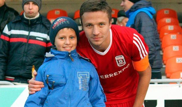 Сергей Герасимец с юным фанатом, gornyak-sport.net