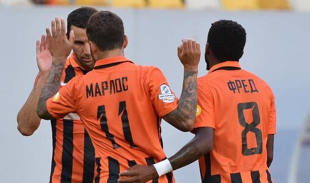 Срна, Марлос и Фред. Фото Богдана Заяца, football.ua