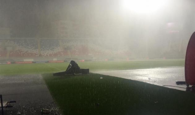 Албания вперенесенном из-за ливня матче обыграла Македонию вотборе наЧМ