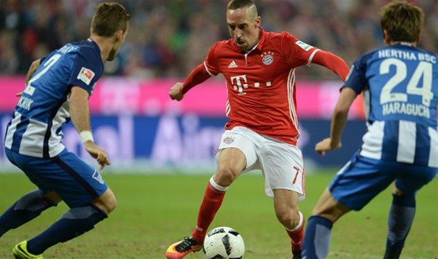 Конкурент «Ростова» поЛиге чемпионов «Бавария» одолела «Герту» вматче бундеслиги