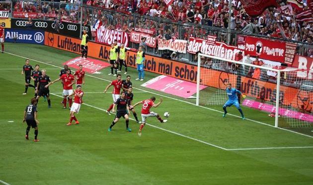 «Бавария» впервый раз оступилась вБундеслиге
