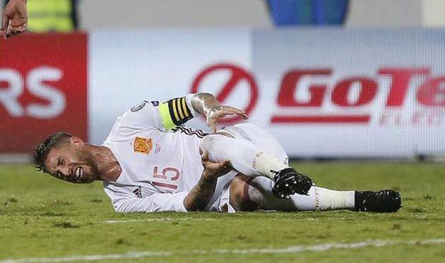 Футболист «Реала» Серхио Рамос пропустит месяц из-за травмы колена