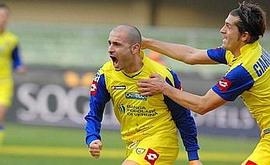 Итальяно празднует гол в ворота Тревизо, gazzetta.it