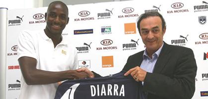 Только что Алу Диарра подмахнул контракт с Бордо на четыре года, фото girondins.com