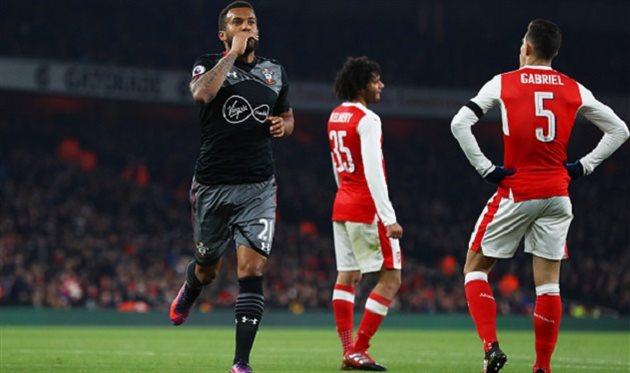 «Саутгемптон» навыезде обыграл «Арсенал» ивышел вполуфинал Кубка лиги