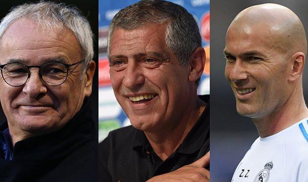 Раньери, Сантуш и Зидан — номинанты на Тренера года ФИФА