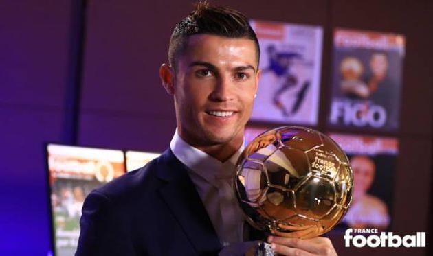Криштиану Роналду вчетвертый раз назван лучшим футболистом