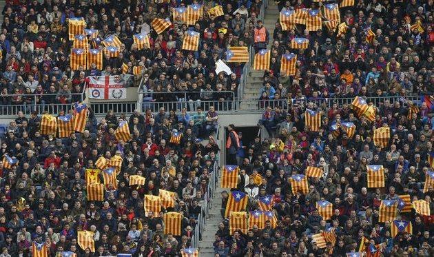 Барселона заплатит штраф за каталонские флаги