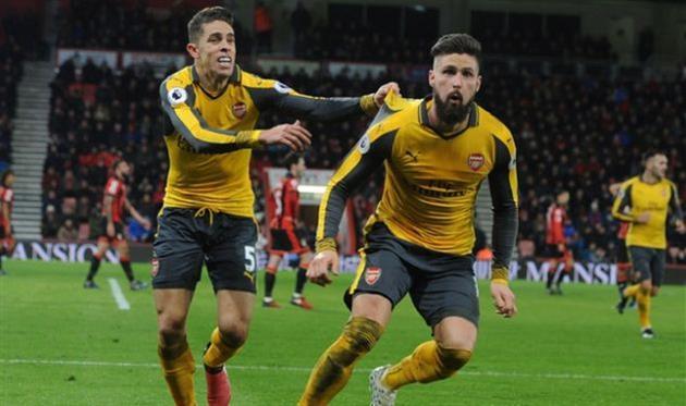 «Арсенал» сыграл вничью с«Борнмутом», проигрывая походу матча 0:3