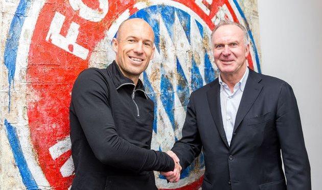 Арьен Роббен продлил договор с«Баварией»