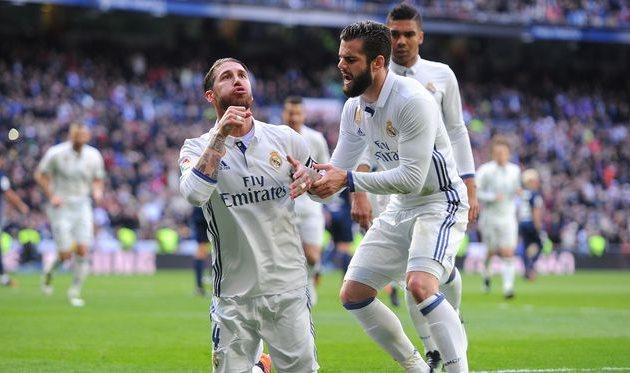 Дубль Рамоса принес победу Реалу вматче сМалагой