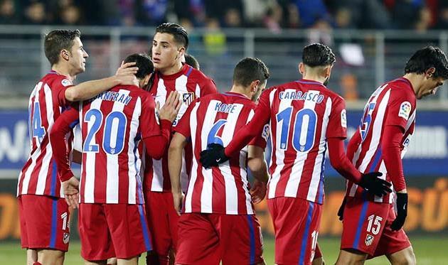 «Атлетико» вышел вполуфинал Кубка Испании