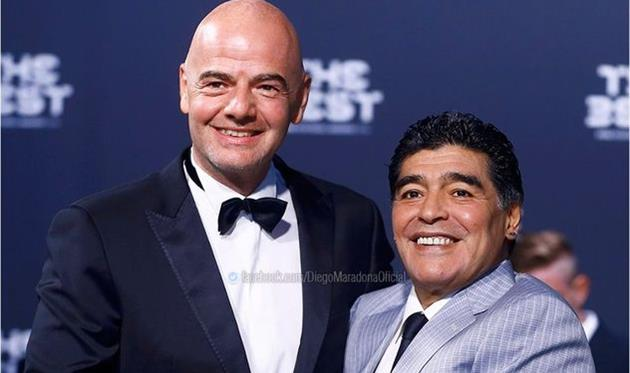 Марадона будет работать вФИФА