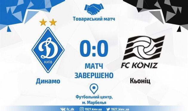 Динамо Киев не смогло переиграть Кениц