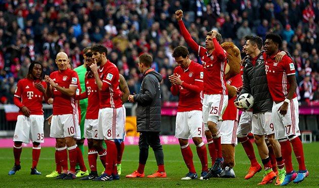 «Бавария» забила восемь безответных мячей «Гамбургу» в22-м туре чемпионата Германии