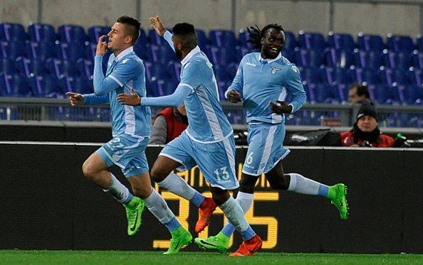 Лацио победил Рому в первом матче 1/2 Кубка Италии