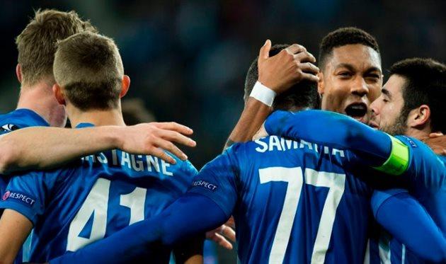 Генк празднует победу над Гентом, UEFA.com