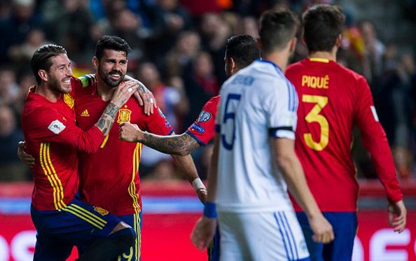 Сборная Испании обыграла Израиль иукрепилась на1-й позиции