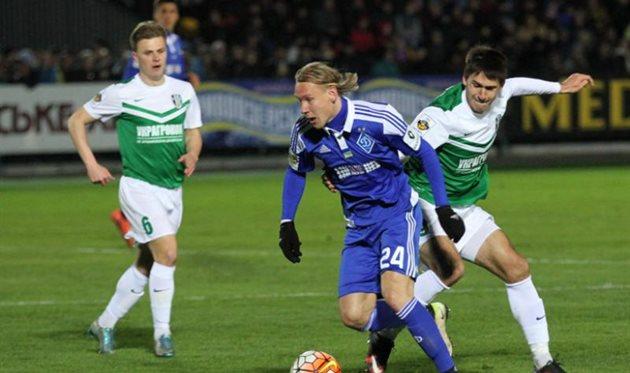 «Динамо» одержало волевую победу над «Александрией»