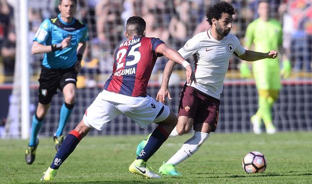 Мохаммед Салах в матче против Болоньи, - Getty Images