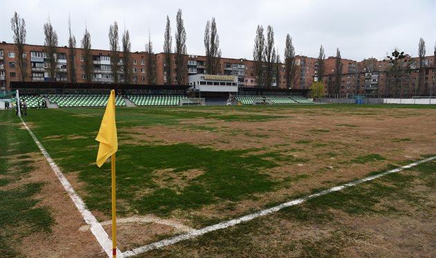 Поле стадиона Локомотив, Фото ФК Шахтер