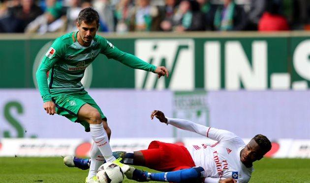 Вердер вырвал у Гамбурга важные три очка, Getty Images
